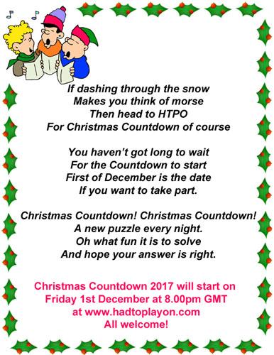 had to play on christmas countdown 2017